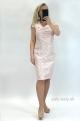 Krátke šaty svetlo-ružové RO-844