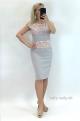 Krátke šaty sivé BE-846