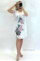 Krátke šaty kvetované ružové BE-847