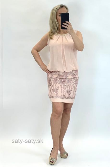 Krátke šaty marhuľové BE-849