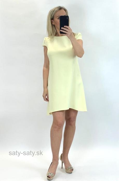 Krátke šaty žlté UP-851
