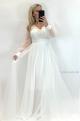 Spoločenské šaty biele BE-858