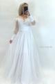 Spoločenské šaty biele  JA-861