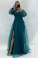 Dlhé spoločenské šaty zelené JO-863
