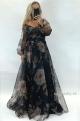 Dlhé spoločenské šaty kvetované   JO-869