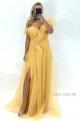 Dlhé spoločenské šaty žlté   JO-866