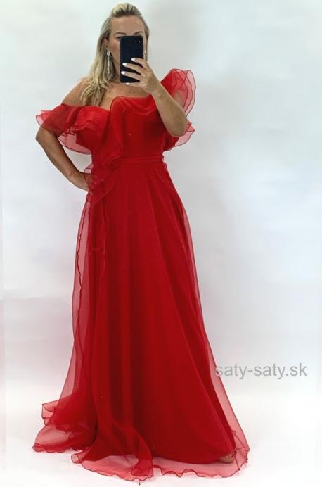 Dlhé spoločenské šaty červené JO-867