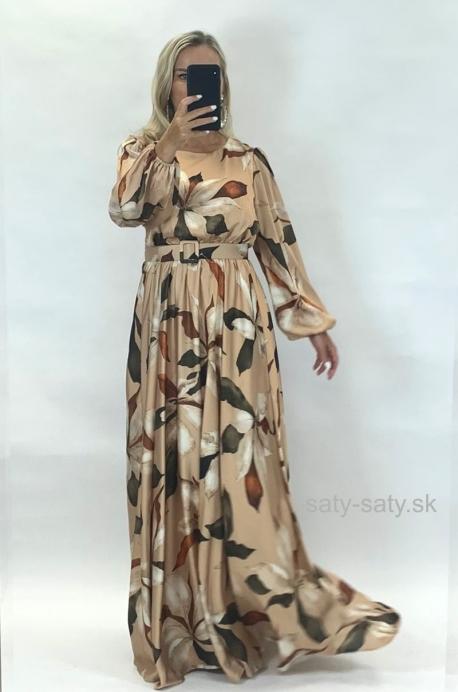 Dlhé spoločenské šaty kvetované ON-881
