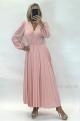 Krátke šaty ružové FE-883