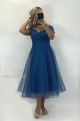 Krátke spoločenské šaty modré JO-885