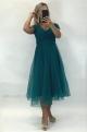 Krátke spoločenské šaty zelené JO-887