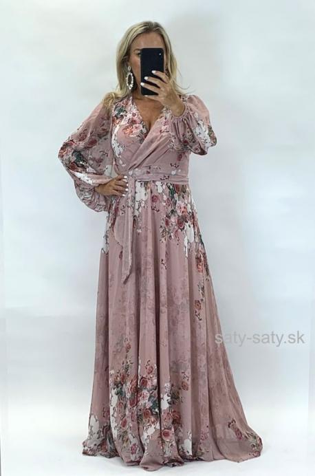 Dlhé spoločenské šaty kvetované ON-871