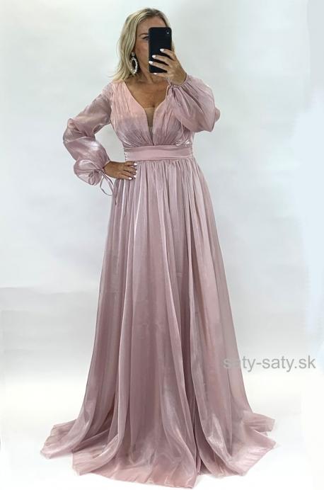 Dlhé spoločenské šaty ružové JO-880