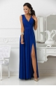 Dlhé spoločenské šaty slivkovo modré EL-888