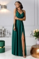 Dlhé spoločenské šaty zelené EL-
