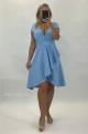 Krátke spoločenské šaty svetlo modré BI-897