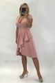 Krátke spoločenské šaty staroružové BI-898