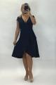 Krátke spoločenské šaty tmavo modré BE-899