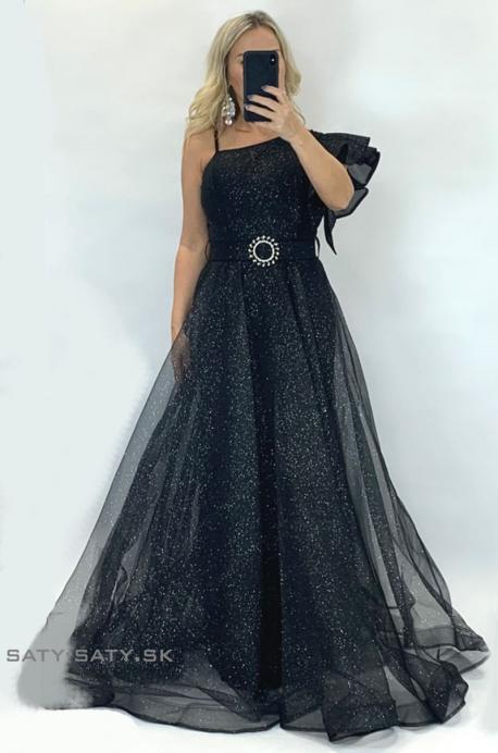 Dlhé spoločenské šaty čierne