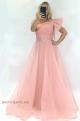 Dlhé spoločenské šaty ružové