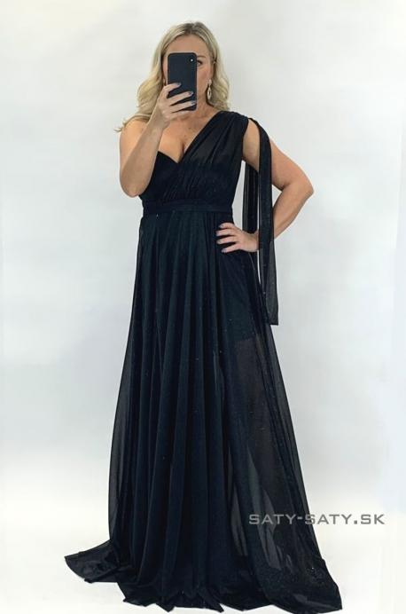 Dlhé spoločenské šaty tmavomodré