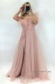 Dlhé spoločenské šaty staroružové JO-920