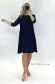 Krátke spoločenské šaty tmavo modré KO-922