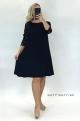 Krátke spoločenské šaty čierne  KO-923