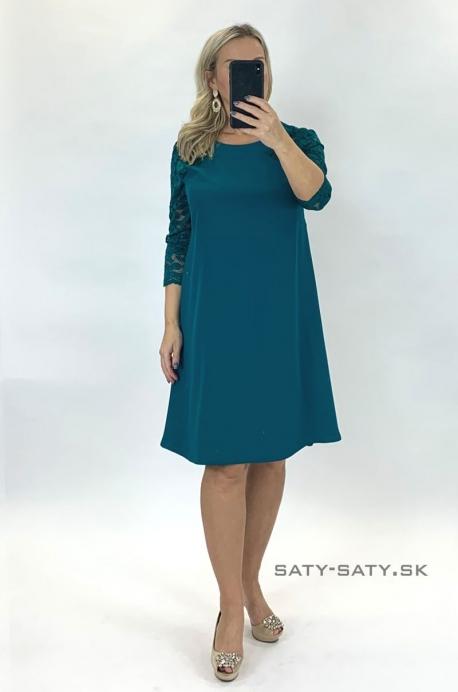 Krátke spoločenské šaty zelené KO-924