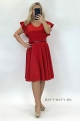 Krátke spoločenské šaty červené MI-926