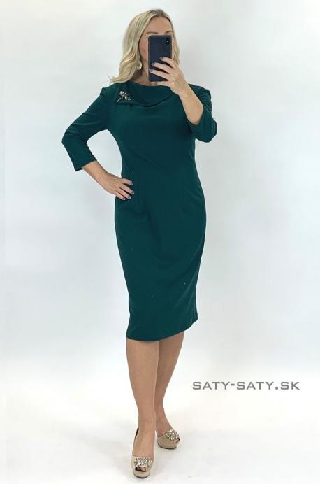 Krátke spoločenské šaty zelené TR-928