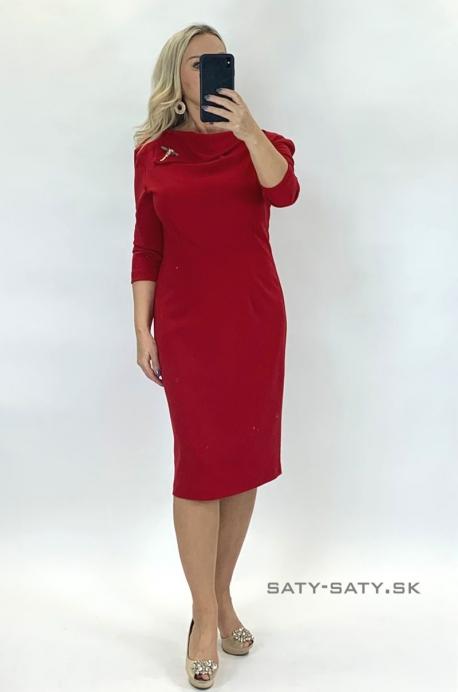 Krátke spoločenské šaty červené TR-929